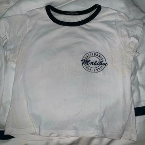 Brandy Melville Cropped T shirt. Malibu design!